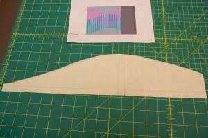Cut out a paper template with shape you will use to shift your strips.