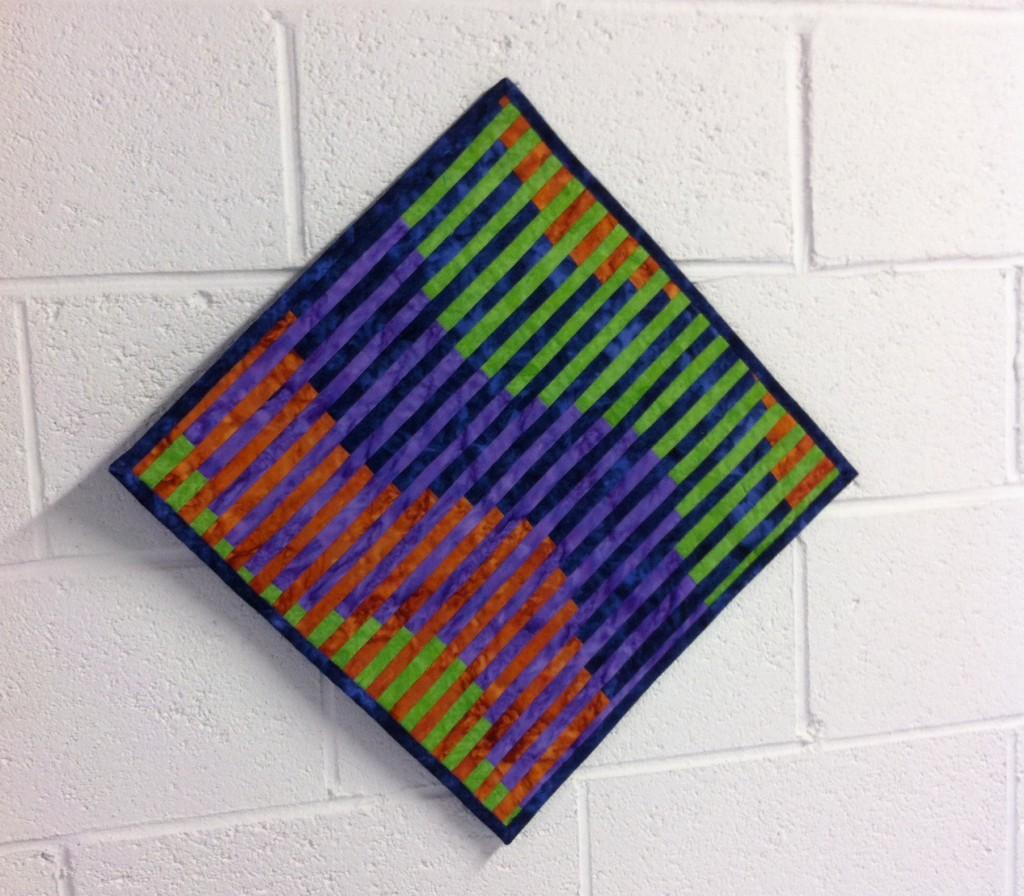 Marlene Fenoglietto's interleave quilt, started during the workshop