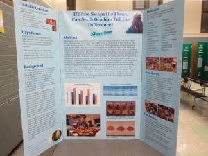 Shane's science fair project