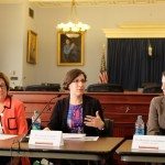 Susie, Lorrie, and Roxana at NSF Congressional briefing