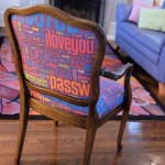 password chair upholstered by Jen Primack
