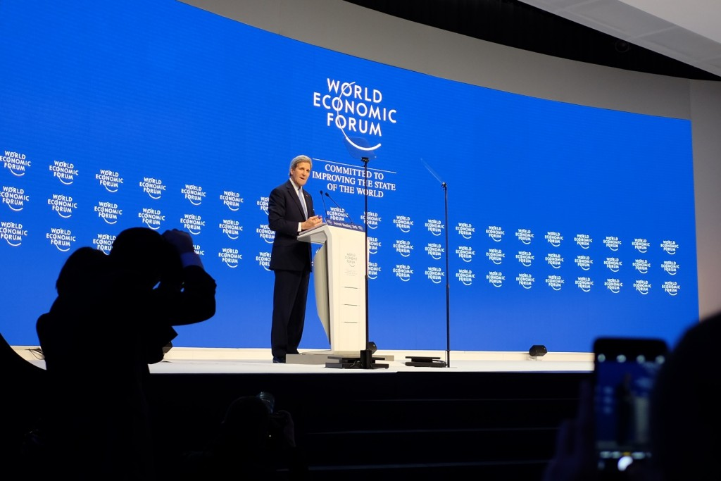 John Kerry, WEF 2016