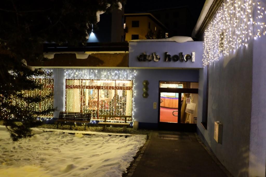 Club Hotel Davos at Night, WEF 2016
