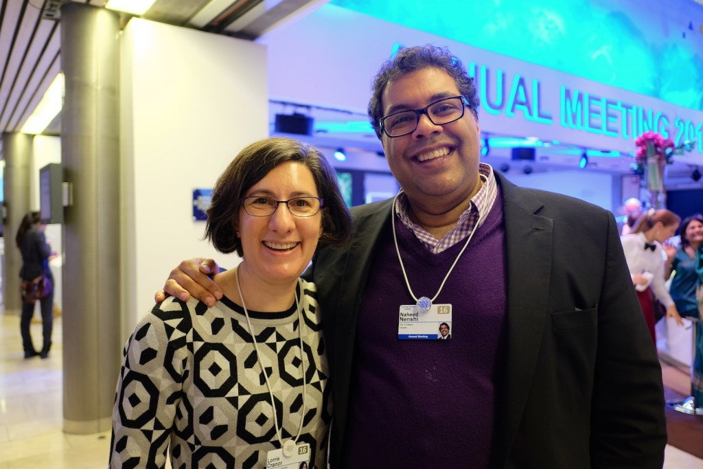 Lorrie with Calgary Mayor Naheed Nenshi at WEF 2016