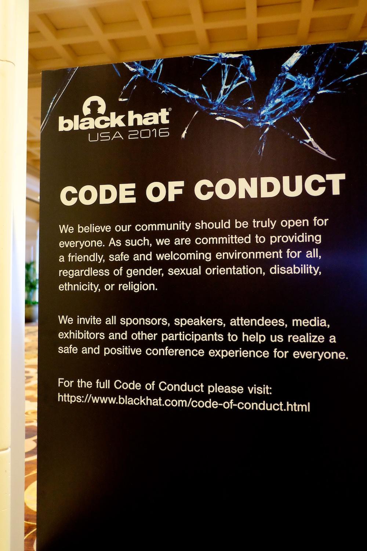 ... Black Hat code of conduct 7f2c0a9e97e7