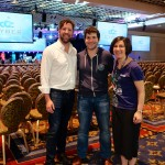 Allan, Jonathan, and Lorrie at Cyber Grand Challenge at DEFCON